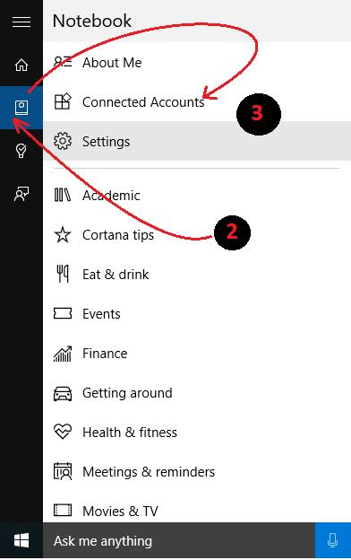 Windows Cortana Settings