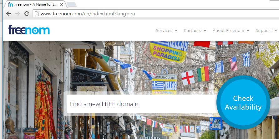 freenom free domain