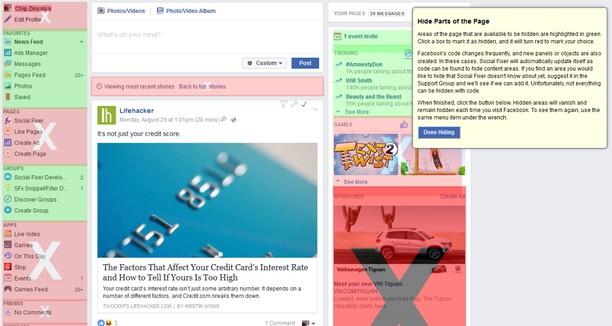 Social Fixer Facebook Chrome Extension