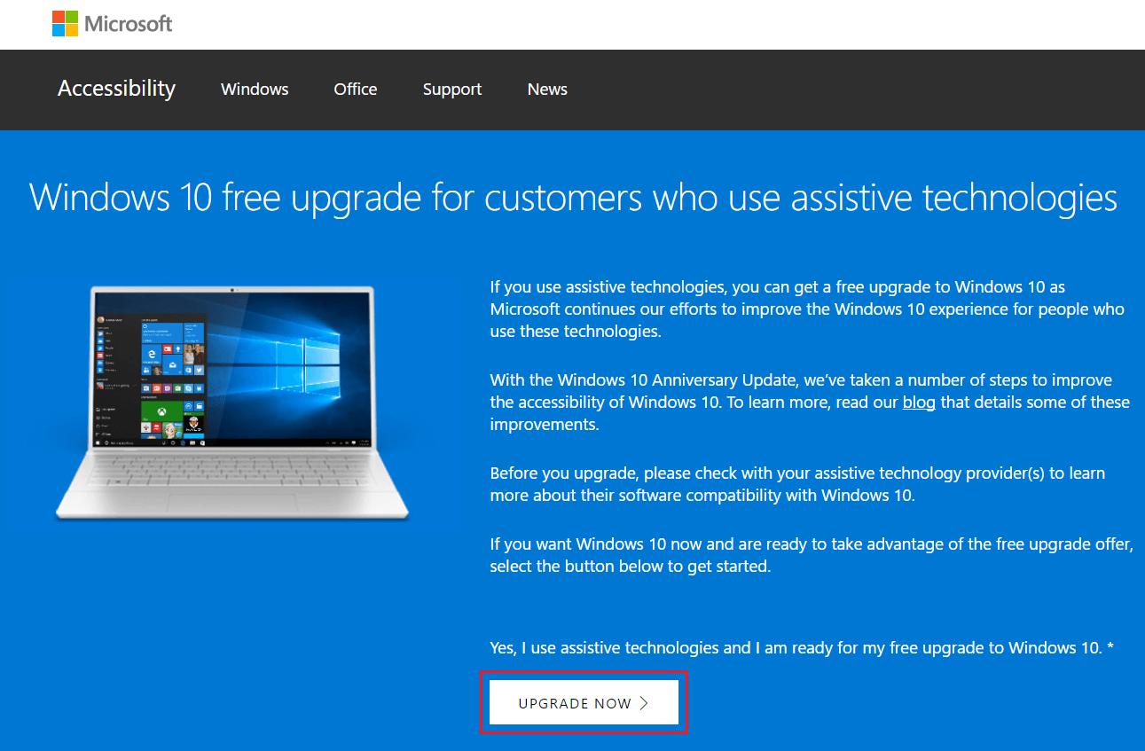Win 10 Free Upgrade