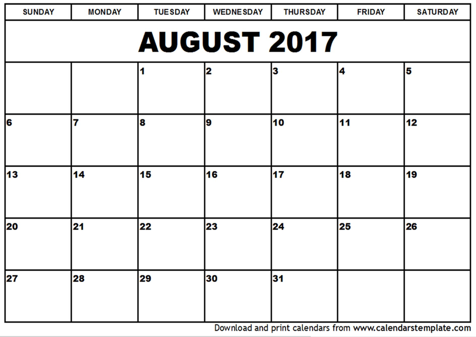 Calendar 2017: 50 Important Calendar Templates of 2017 [PDF, JPG]