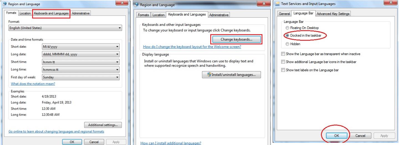 Change Language Windows 7