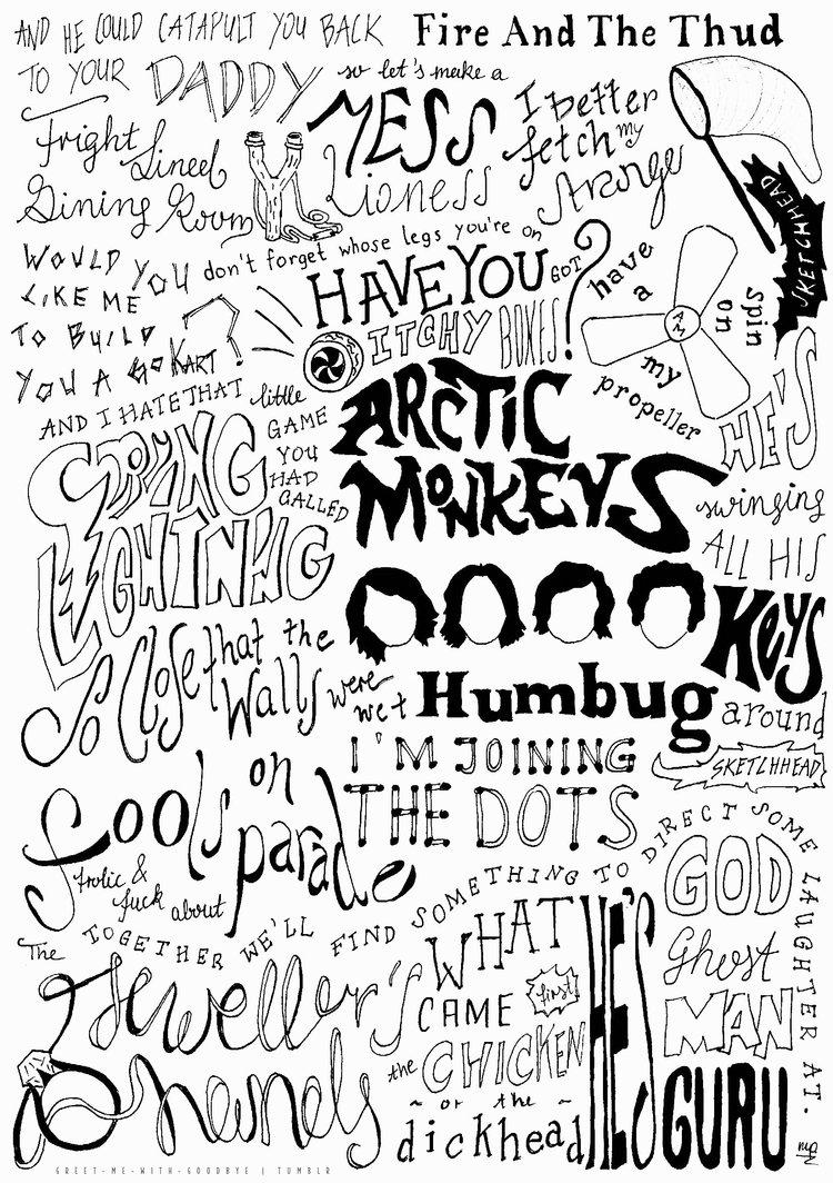 Arctic Monkeys Trippy Wallpaper