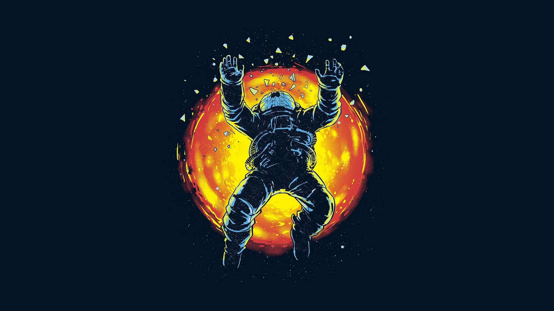 Astronaut Trippy Wallpaper
