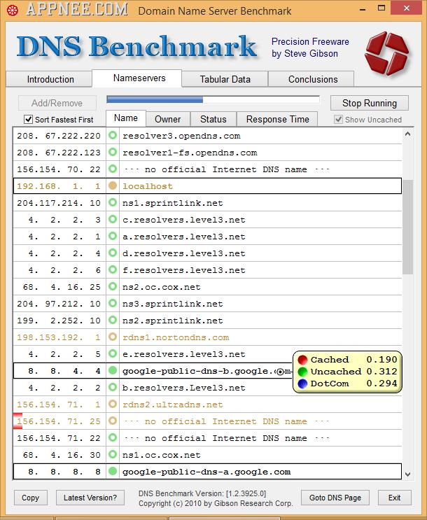 DNS Benchmark Tool