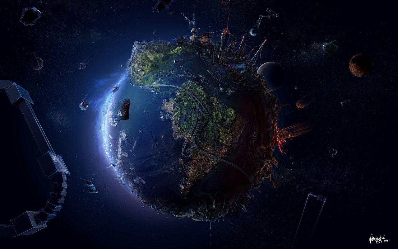 Earth Trippy Wallpaper