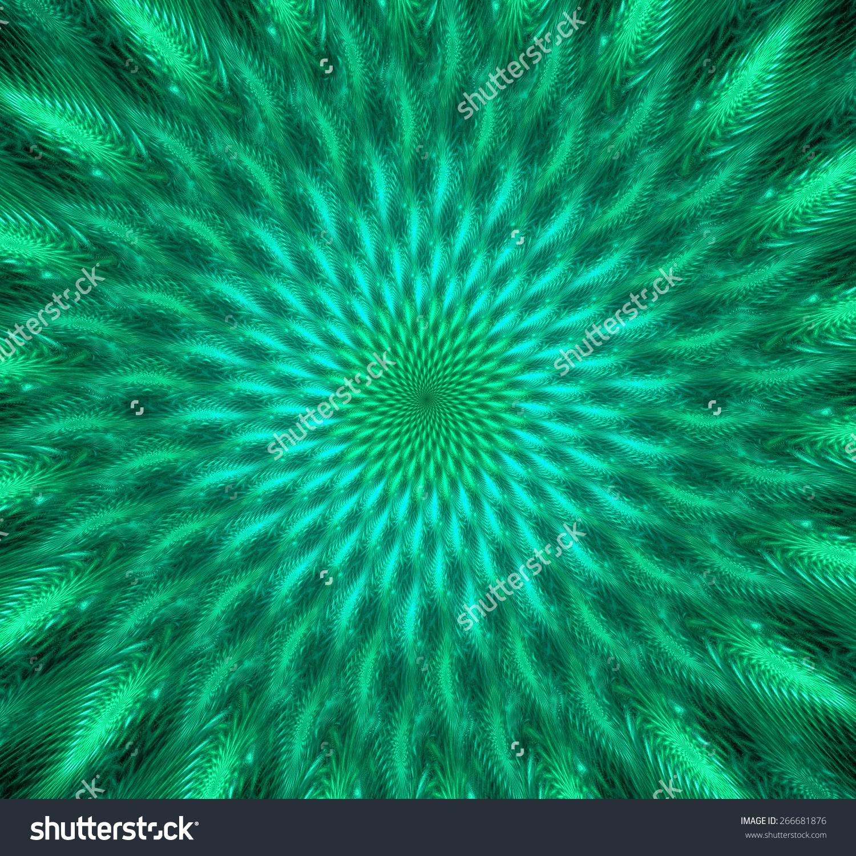 Green Trippy Background