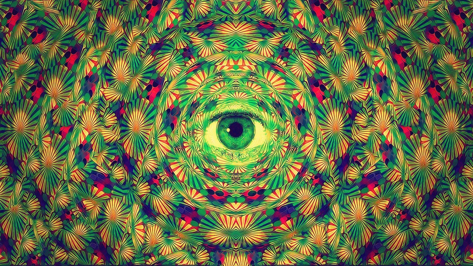 Green Trippy Wallpaper