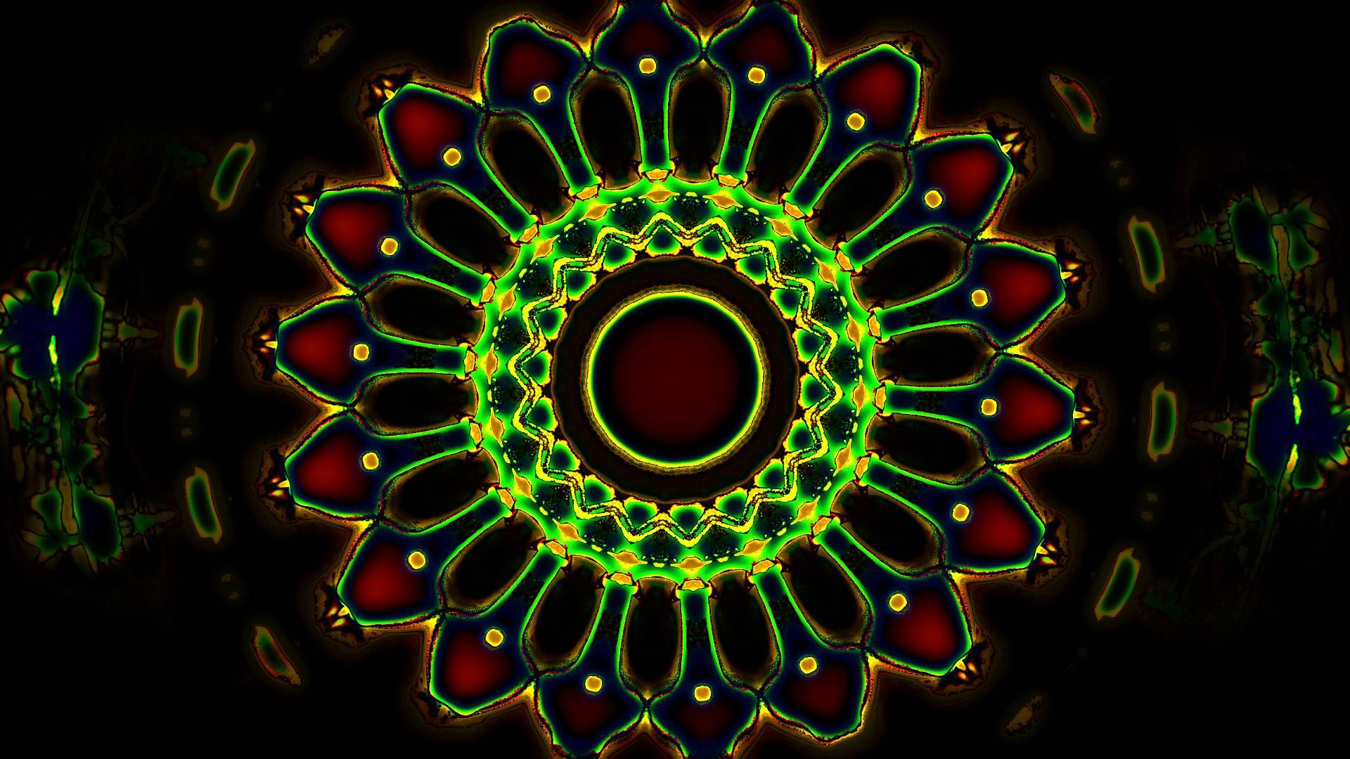 Hd Green Trippy Wallpaper