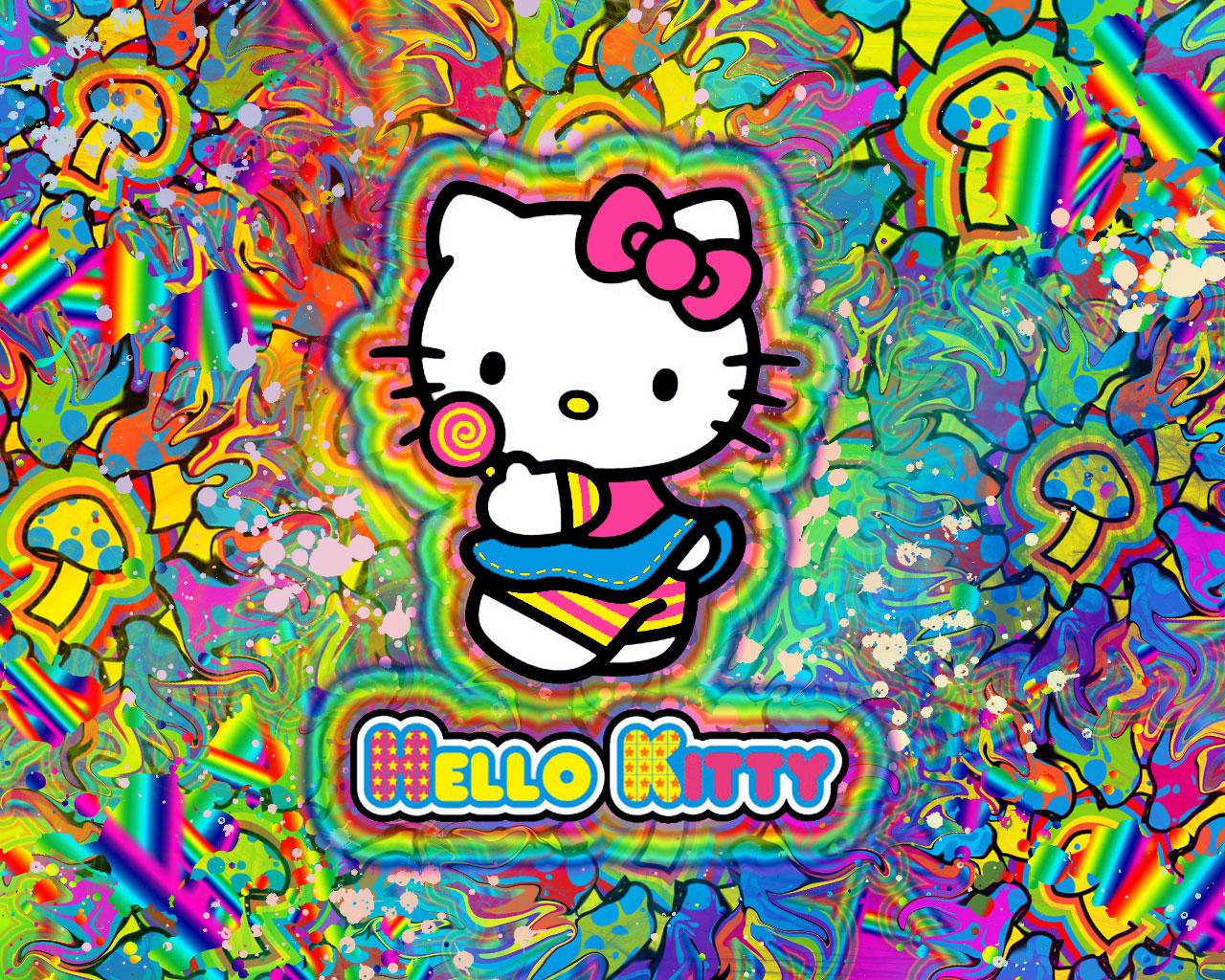 Hello Kitty Trippy Background