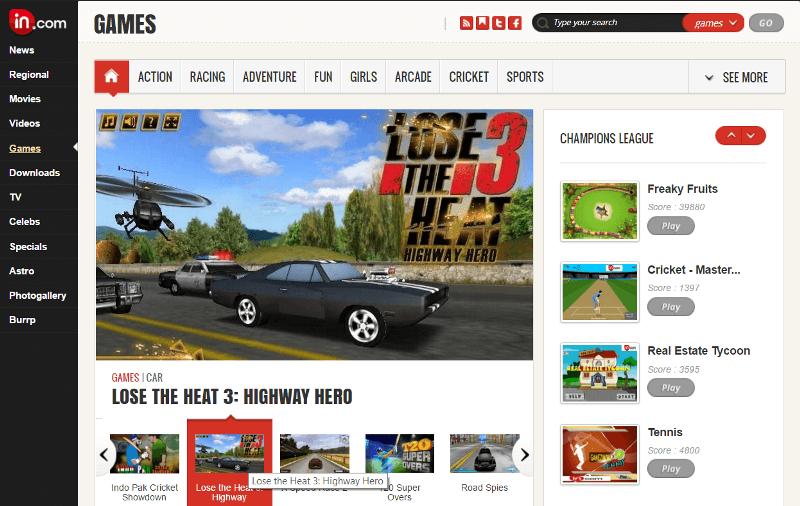 In.com Online Games