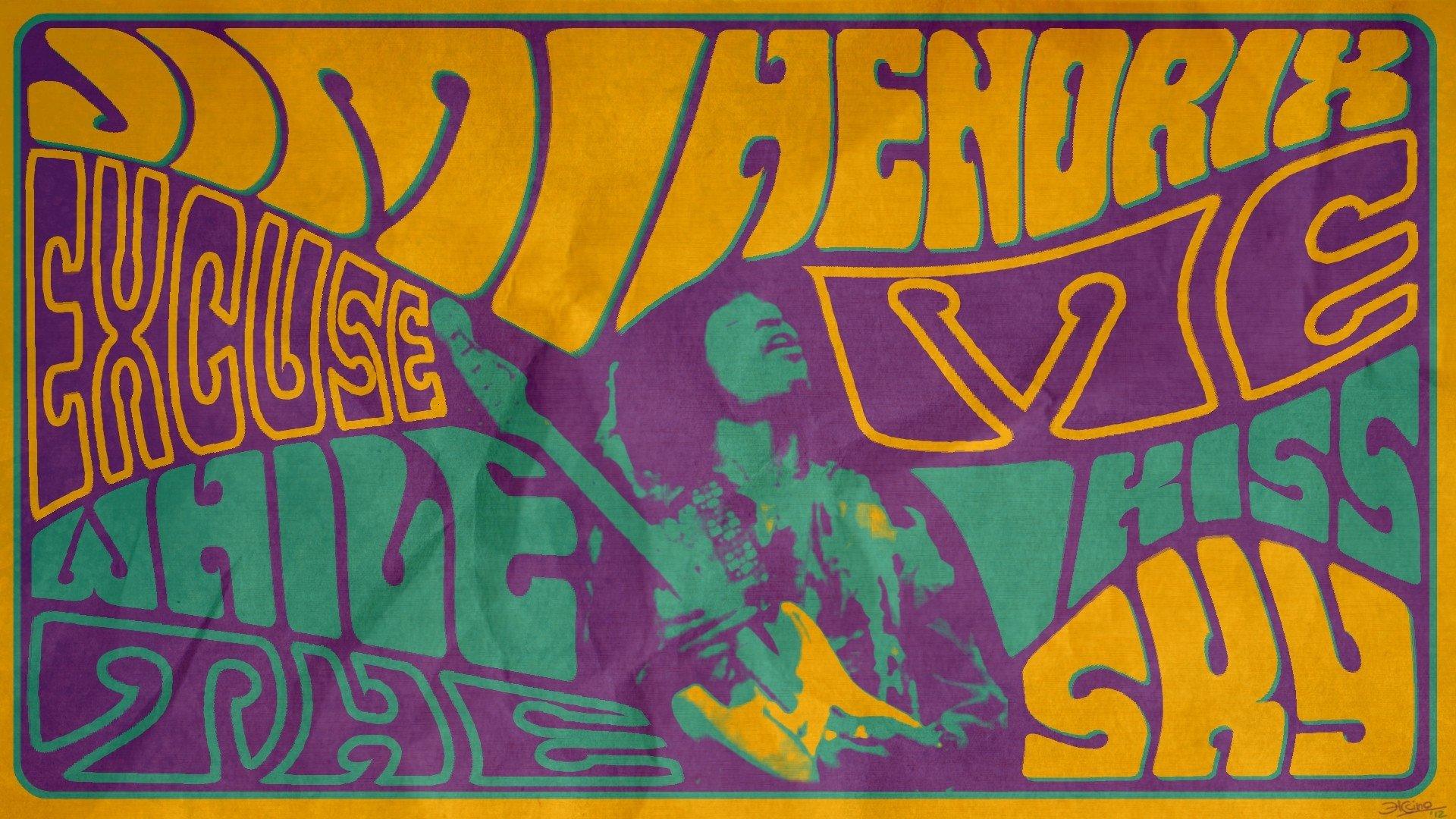 Jimi Hendrix Psychedelic Wallpaper