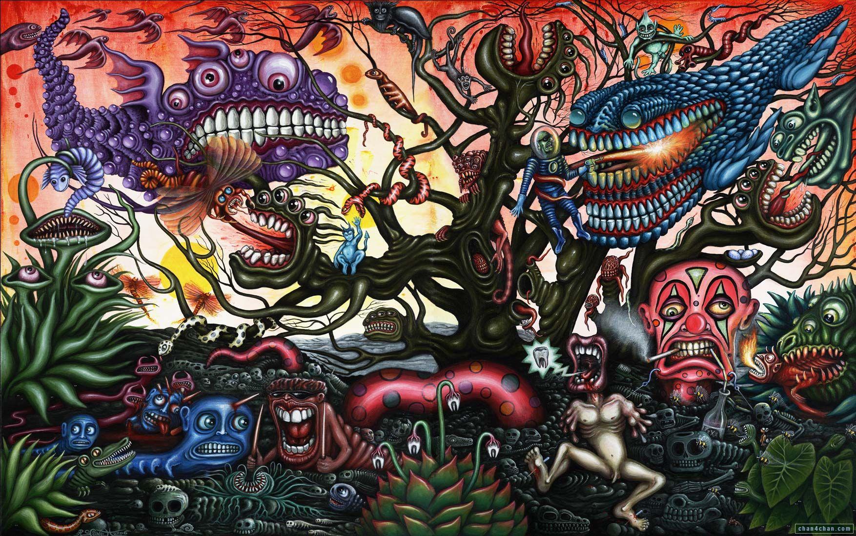 Modern Psychedelic Wallpaper Hd