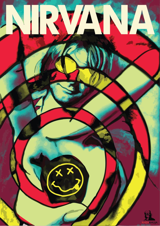 Nirvana Psychedelic Background