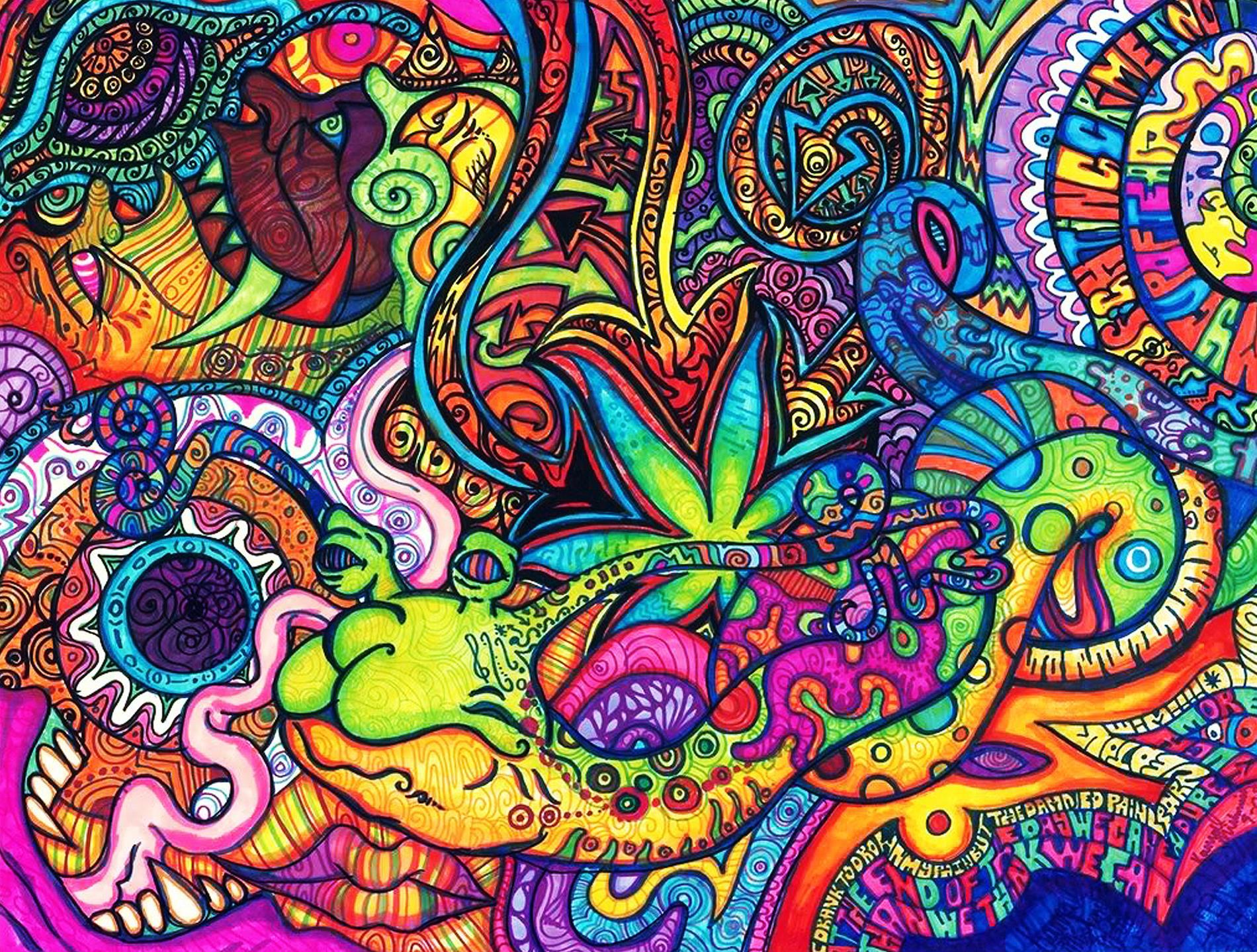 Psychedelic Background Desktop