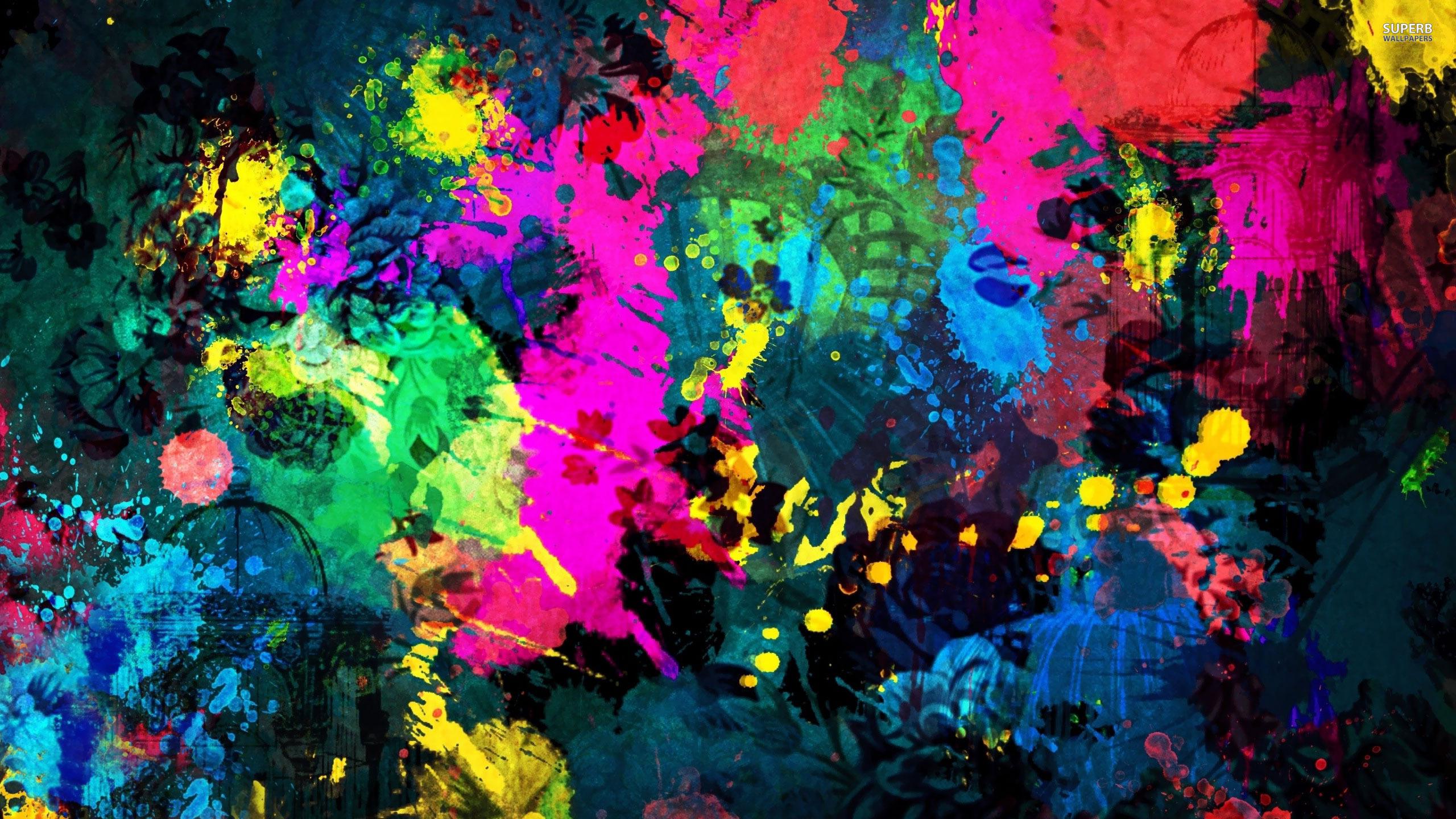 Psychedelic Wallpaper Paint Splatter