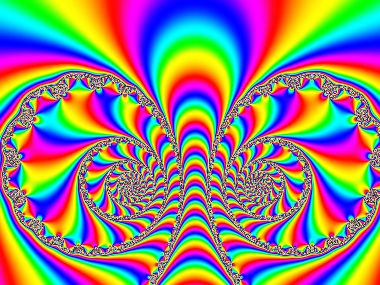 Rainbow Trippy Background