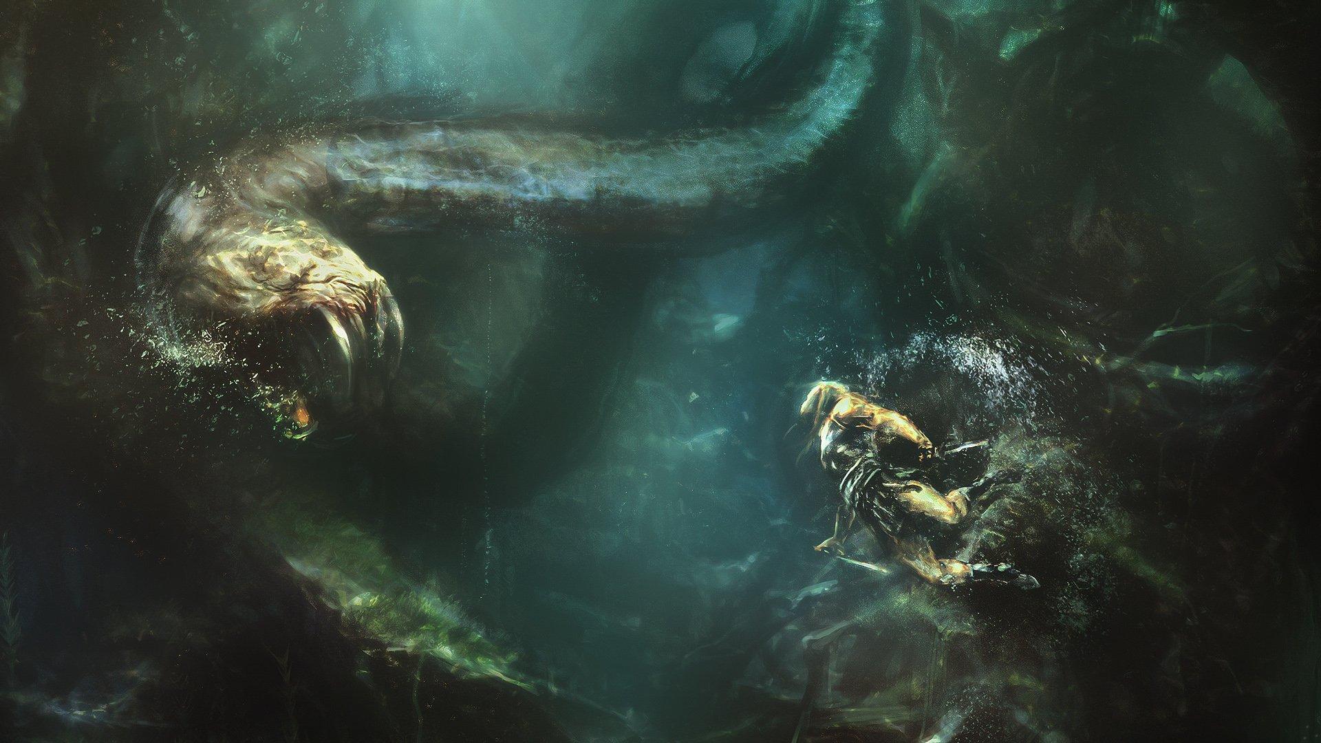 Sea Monster Trippy Wallpaper