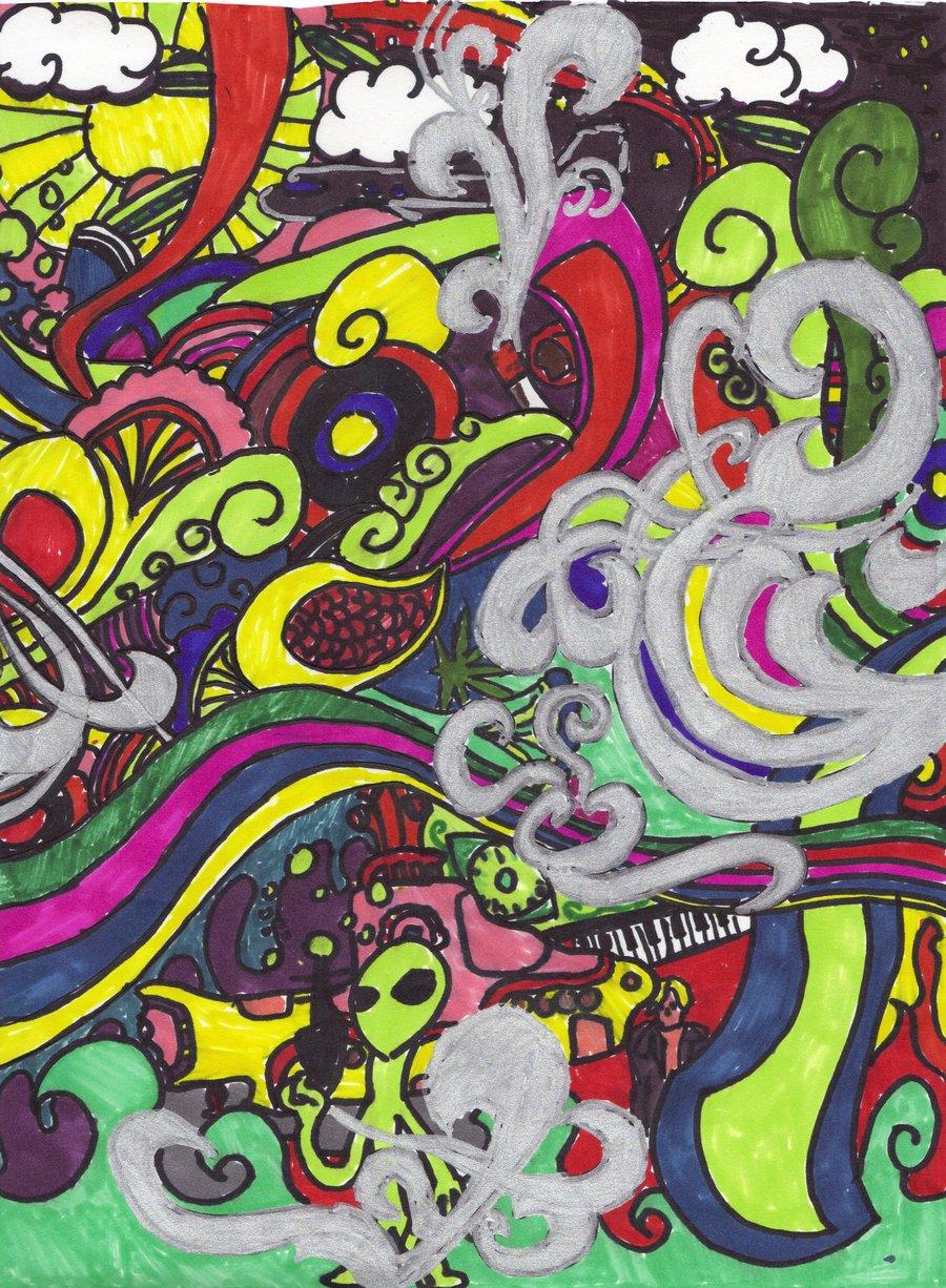 Trippy Background Alien