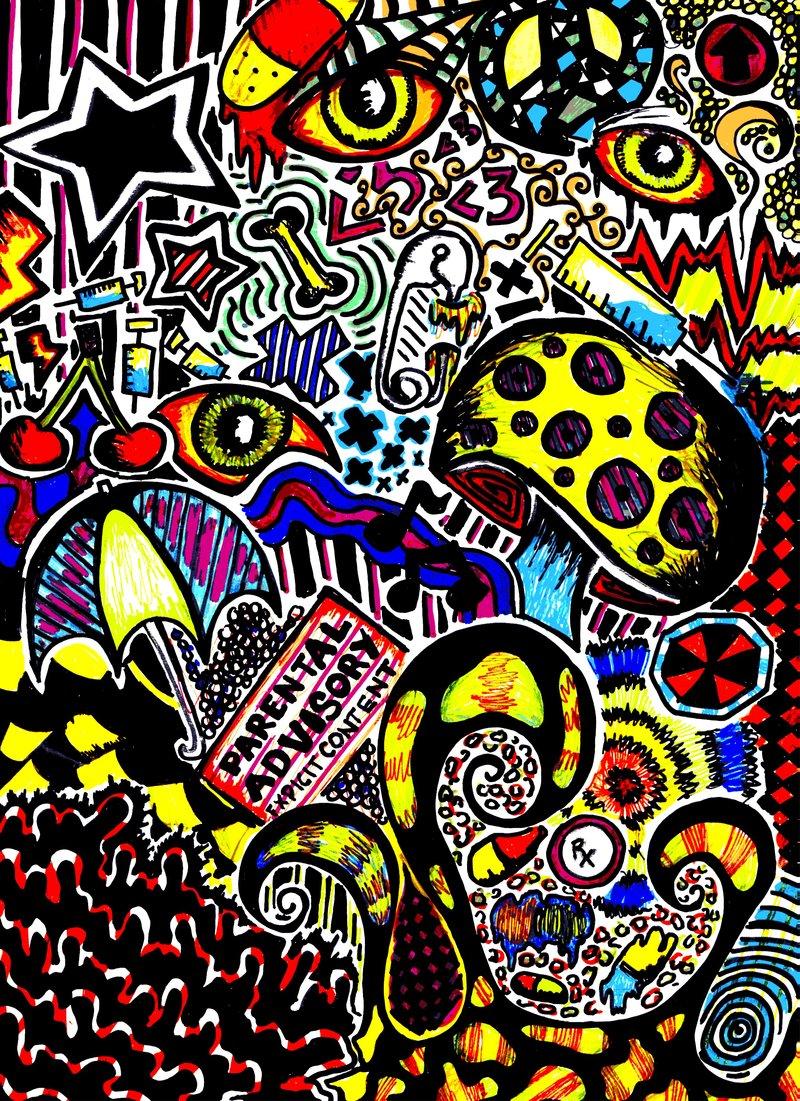 Trippy Background Sketches
