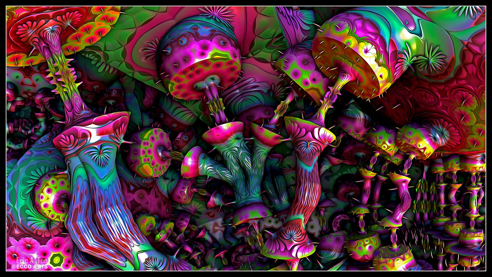Trippy Wallpaper Mushrooms