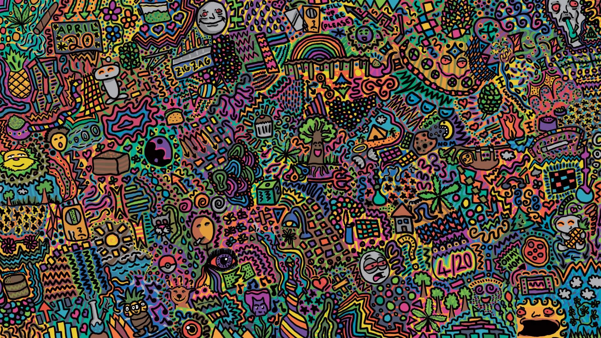 Trippy Wallpaper Tree Acid Desktop