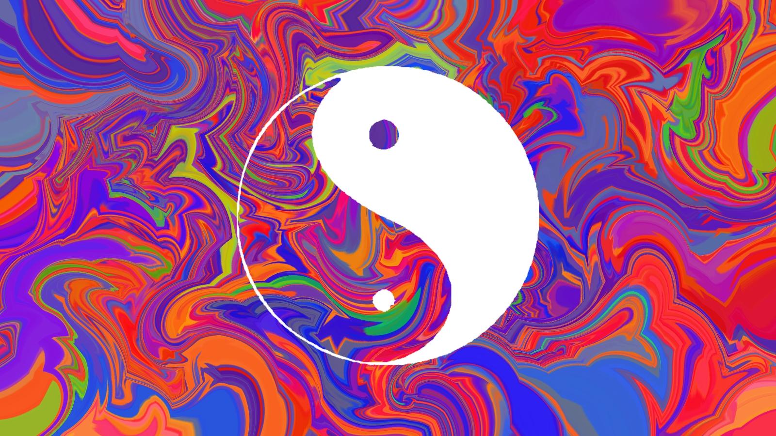 Yin Yang Trippy Background