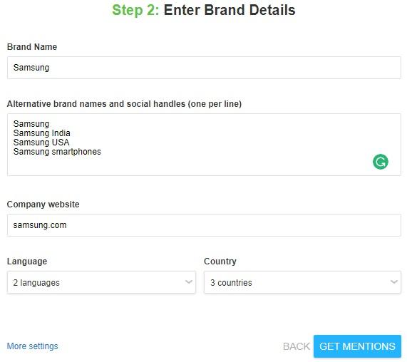 enter brand details
