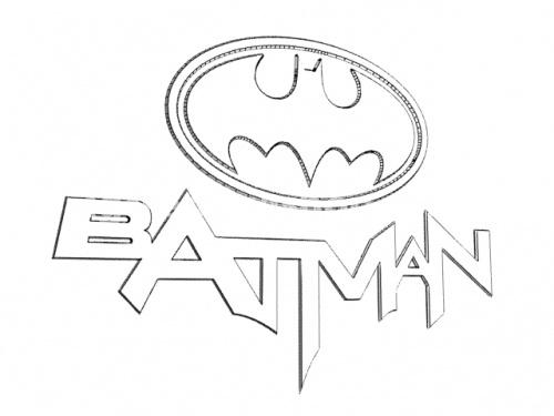 coloring pages batman printable logo - photo#40