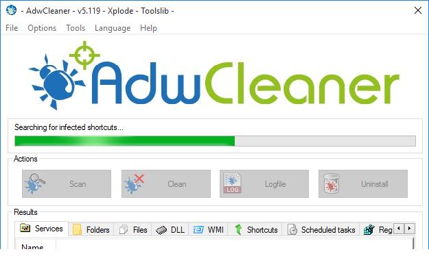 AdwCleaner v5.119 Scanning System