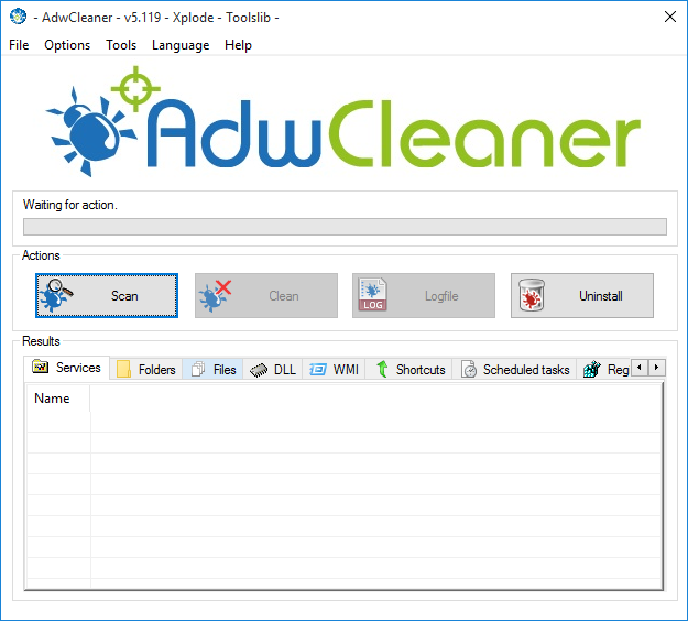 AdwCleaner v5.119 Screenshot