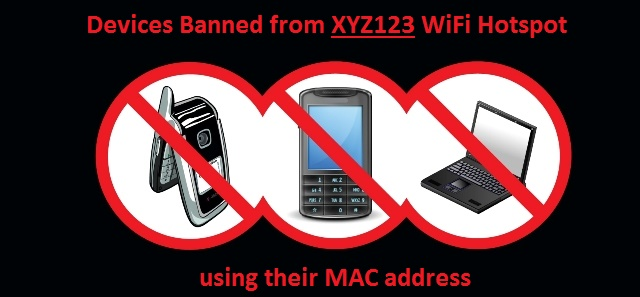 Banned Devices using their MAC Address