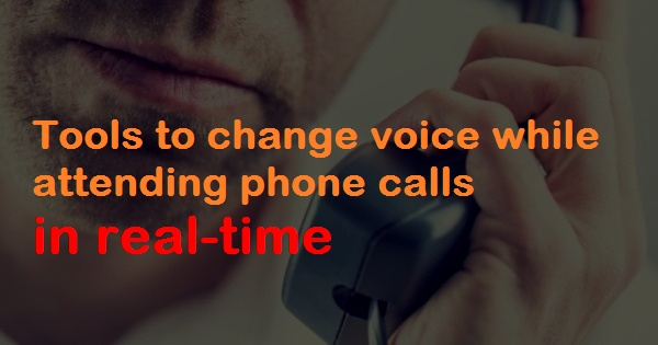 Change voice over calls