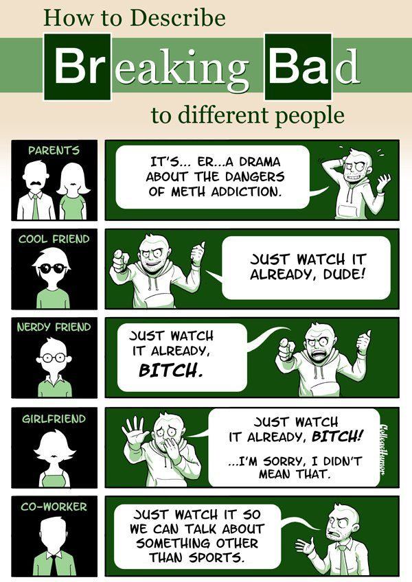 How To Describe Breaking Bad To Different People Infographic