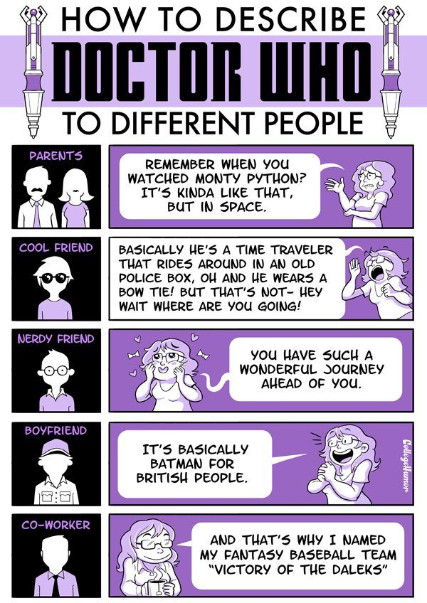 How To Describe Doctor Who To Different People Infographic