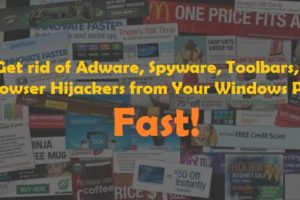 Get rid of adware windows