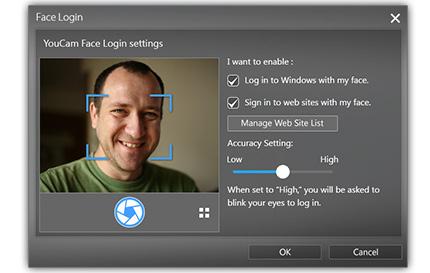 face login cyberlink youcam 7