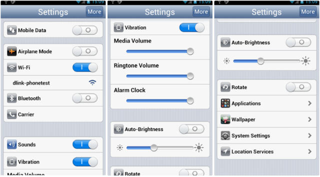 iOS Settings for Android