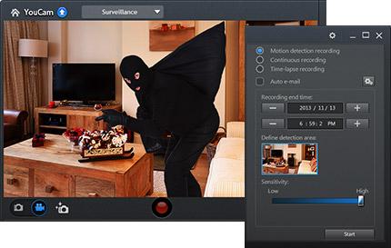 surveillance mode cyberlink youcam 7