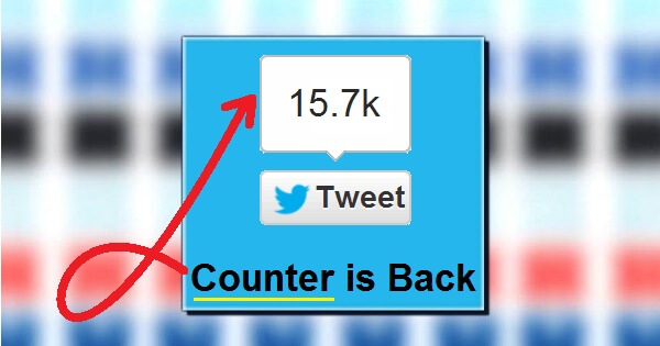 How To Get Your Twitter Button's Tweet Counter Back?