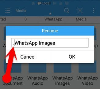 Rename WhatsApp Multimedia Folder