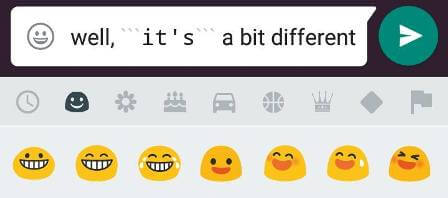 Different font whatsApp