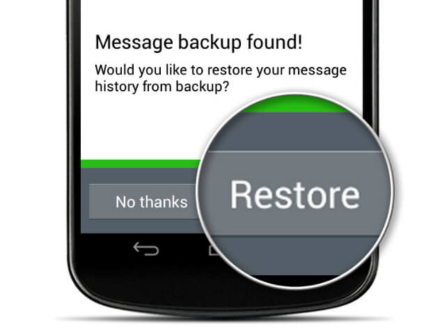 restore whatsapp backup