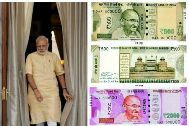 PM Modi and New Notes