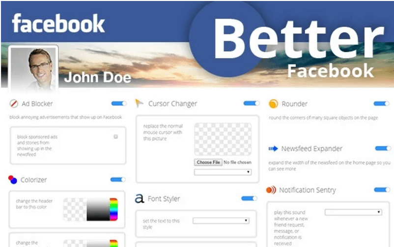 Better Facebook Color Changer Chrome Extension