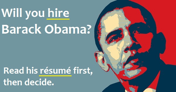 barack obama résumé would you hire this unemployed us president