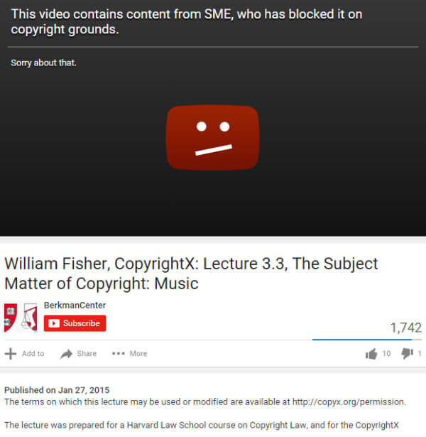YouTube Videos Removed