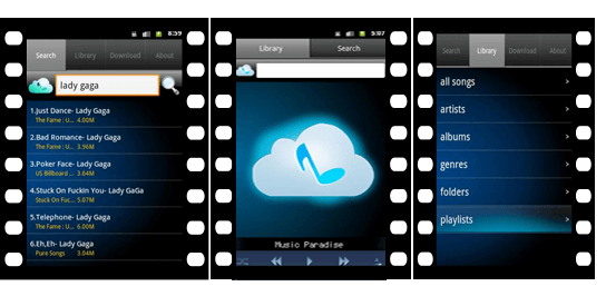 Music Paradise Pro for Android Download APK Music Downloader