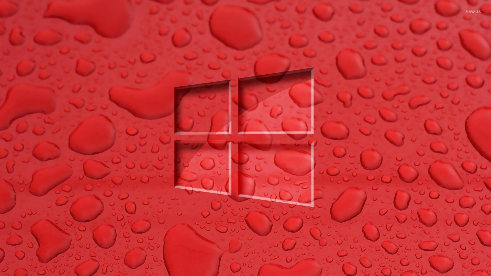 windows 10 wallpaper red supportive guru