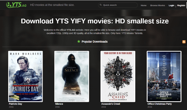 yify torrents website